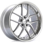 4 20 Staggered Xix Wheels X61 Silver Machined With Ss Lip Rims B3
