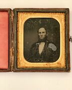 1/4 Plate Ambrotype Collectible Vintage Antique Photograph Bearded Male