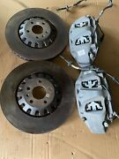 Audi Q7 4m 6 Pistons Front Calipers Include Brake Disc 4m0615105bc/4m0615106bc/4