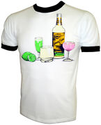 Vtg 70and039s Sauza Gold Tequilla Jose Cuervo Mexico Orig Iron-on New Unused T-shirt
