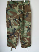 Vtg Us Army Camo Trousers Combat Green Brown 80s Military Black Camouflage Pants