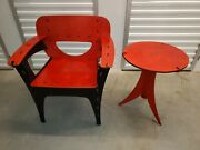 Modern Decorative Birch Wood Puzzle Chair And Table By David Kawecki Rare Find