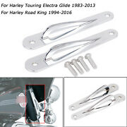 For Harley 94-19 Road King Classic Flhr Chrome Tie-down Anchor Point Fork Mounts