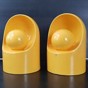 Pair Of Lamps Vintage 1960 Sc3 Ceramic Of Marcello Cuneo For Gabbianelli