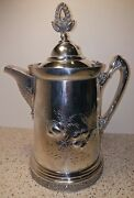 Quadruple Plated Pitcher/jug Osborn Co Of Lancaster Pa American Silver Plated
