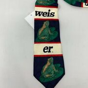 Vintage Nwt's Men's 1995 Anheuser Busch Budweiser Spell Out Striped Frog Tie