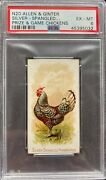 1891 N20 Allen And Ginter Prize And Game Chickens Silver Spang Hamburgh Psa 6 Exmt