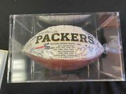 Green Bay Packers Logo Football 2012 Signed Auto Whole Team Who's Who Authentic