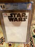 Star Wars 1 Blank Error Thor 1 Cover Variant Cgc 9.8 Wow Only One On Ebay