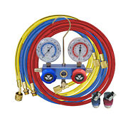 Mastercool Air Condition System Charging And Testing Manifold Gauge Set W/ Hoses