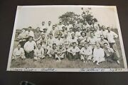 Vintage 1947 Black And White Bostitch Group Photo Cousins Club