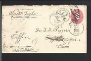 Richwood Ohio 1900 Coverforwarded Several Times To Tiffinunion Co. 1833/op.
