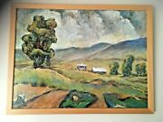George Tussing Contemporary American Painting Acrylic On Canvas Shenandoah Farm