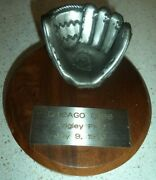 1990 Chicago Cubs Wrigley Field Equitable Old Timers Game Baseball Trophy
