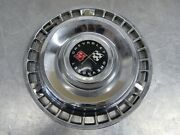 One 1961 Chevy Impala Vintage Oem 14andrdquo Cross Flag Hubcap Wheel Cover St25