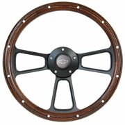 14 Real Wood And Black Muscle Steering Wheel Chevrolet Truck Any 1948 - 2002