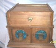 Disc Phonograph Favorite Made In Germany Great Looking With Glass Panels