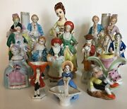Vintage Lot Of 13 Figurines Made In Occupied Japan