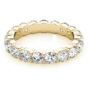 3.40 Carat Real Diamond Engagement Rings 14k Solid Yellow Gold Band Size 6 7 8 9