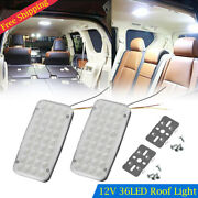 2x Dc 12v 36 Led Car Vehicle Interior Dome Roof Ceiling Reading Trunk Light Lamp