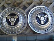 Two Vintage 1966 66 1967 67 Ford Mercury Marquis Hubcaps Wheel Covers Center Cap