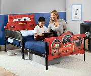 Cars Lightning Mcqueen Childrens Bed Kids Bedroom Furniture Twin Size Race Car