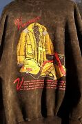 Iaff 1992 Vancouver Fire Fighter Fire Dept. Convention Sweatshirt Hand Painted