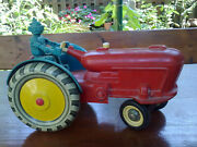 Vintage Mega Rare Antique Toy Tractor With Robot