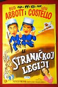 Abbott And Costello In Foreign Legion 1950 Rare Exyu Movie Poster Budd Lou