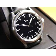 Sinn 556 Automatic Black Silver Stainless Cow Leather Round Analog 38.5mm Menand039s
