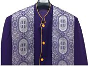 Pastor Robe / Clergy Robe / Minister Robe / Cassock With Stole Optional Purple