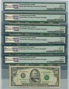 Fr 2122a 50 1985 Federal Reserve Note 6 Consec Offset Print Error 64-66 Epq Pmg