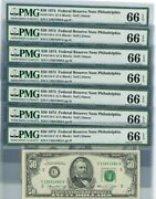 Fr. 2118-c 50 1974 Federal Reserve Note 7 Consecutive Dc-2653 66 Epq Pmg