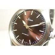 Sinn 556.imm Automatic Brown Silver Stainless Round Analog 38.5mm Mens Authentic