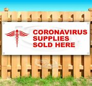 Covid Supplies Sold Here Advertising Vinyl Banner Flag Sign Sizes Usa Virus Cdc