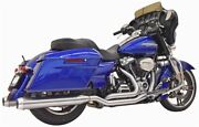 Bassani 1f66ss Stainless 2-2 True Dual Full Exhaust System 17-up Harley Touring