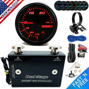 Dual Stage Electronic Boost Controller Kit 0-30 Psi W/ Boost Gauge And Gauge Pod