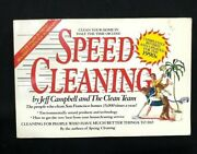 Speed Cleaning By Jeff Campbell And The Clean Team Staff 1991 Paperback...