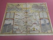 100 Original Large Middlesex London Map By John Speed C1627 Edition Hand Colou