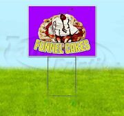 Funnel Cakes 18x24 Yard Sign With Stake Corrugated Bandit Usa Business Food
