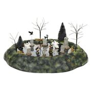 Dept 56 Halloween Village Animated Ghosts In The Graveyard Set 6005552 New 2020