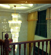 Modern Creative Led Clear Crystal Chandelier Villa Stairs Lighting Fixture 119