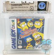 Gbc - Simpsons Night Of The Living Treehouse Of Horror - Sealed - Wata 9.4 A