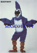 2020 Deluxe Long Hair Blue Jay Mascot Costume Adult Size Blue Birds High Quality