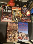 Tm Books And Video Vhs Dvd Lot Of 9 Trains Cat Machines Lionel Mth Christmas Baby