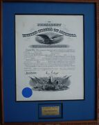 President Woodrow Wilson Signed Military Commission 12/31/1914, Fine, Unfolded