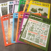 The Bulletin Toy Train Operating Society Lot Of 12 Magazines Model Trains 1975