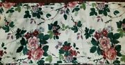24 Ft 288 Waverly Pleasant Valley Tailored Valance Roses Berries Leaves 15l