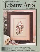 Leisure Arts Magazine Dec 1988 Father Christmas Quilted Stockings Victorian