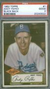 1952 Topps 1 Bb Andy Pafko Psa 2 0522